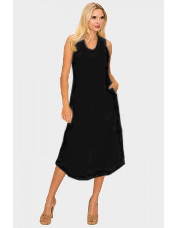 Sylvia Pocket Dress, Black