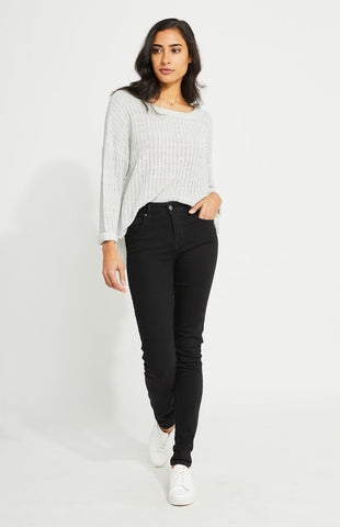 Lush Pullover In Light Grey