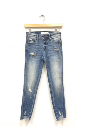 Ronnie Distressed Cropped Skinny Jeans