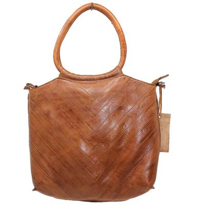 Dalton Leather Handbag in Cognac