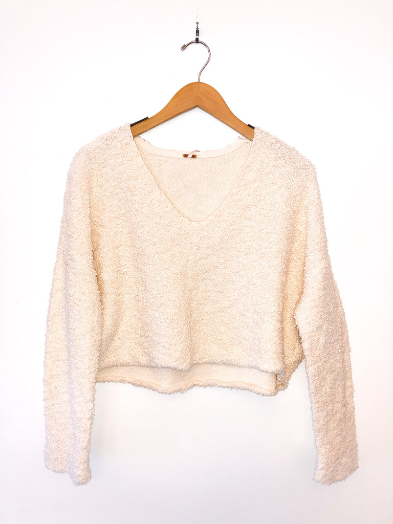 Free People 'Popcorn Pullover' In Cream