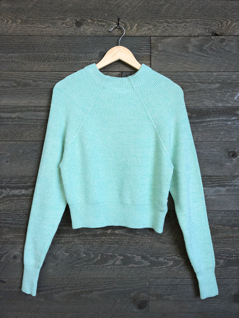 Free People 'Too Good' Pullover In Opaline Green