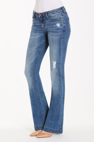 Rosie Flare Jeans in Jetsetter