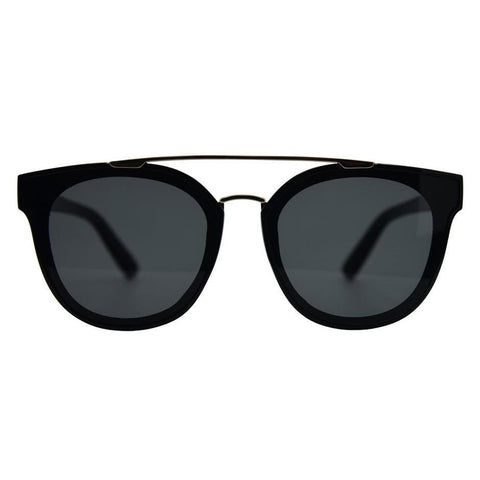 Topanga Sunglasses, Black Smoke