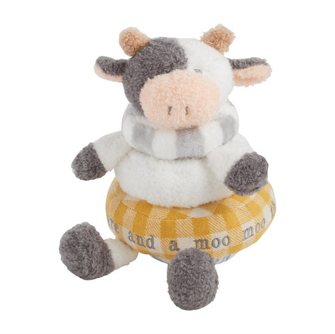Farmhouse Stackable Plush Cow