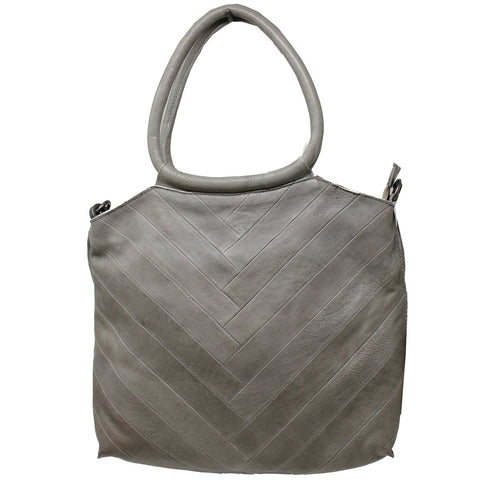 Dalton Leather Handbag – Grey