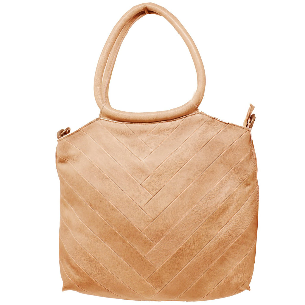 Dalton Leather Handbag – Tan