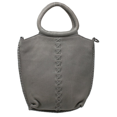 Nuria Leather Handbag, Gray