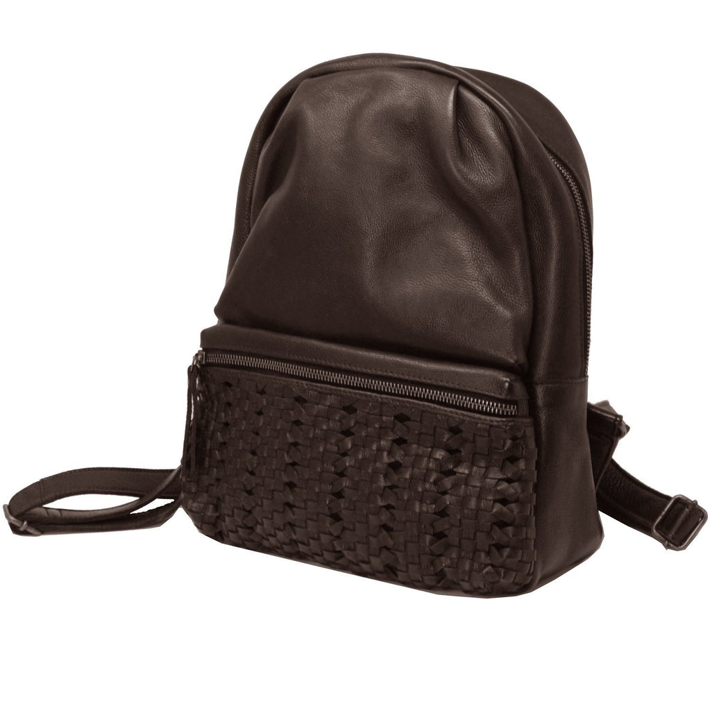 James Leather Backpack In Brown