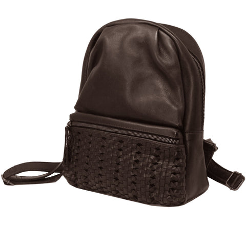 James Leather Backpack, Brown