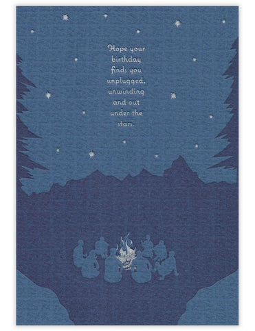 Under the Stars Birthday Card