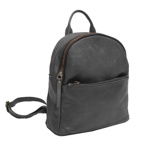 Gregg Leather Backpack – Black