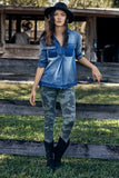 Evie Camo Jeans With Button Down Fly