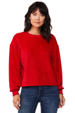 Irma Chenille Sweatshirt, Red