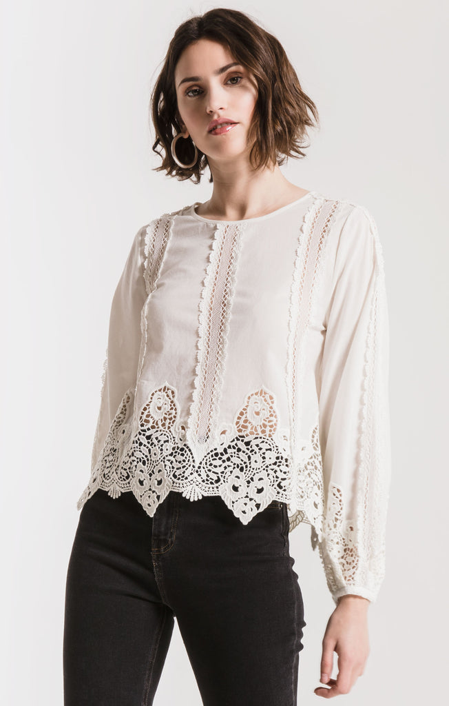 Black Swan Catalan Crocheted Blouse