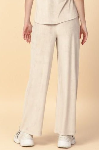Sol Velour Wide Pants, Moth Gray