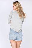 Leesa Plaited Asymmetrical Sweater, Grey