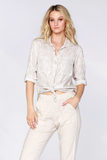 Liliana Double Pocket Collared Button Up
