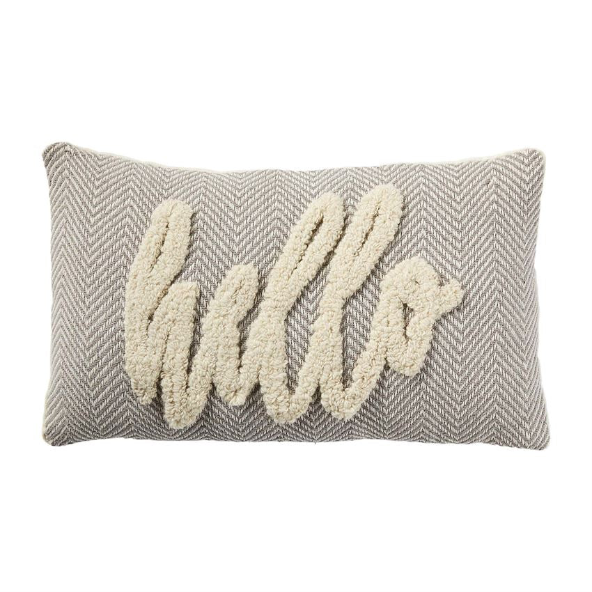 """Hello"" Tufted Pillow"