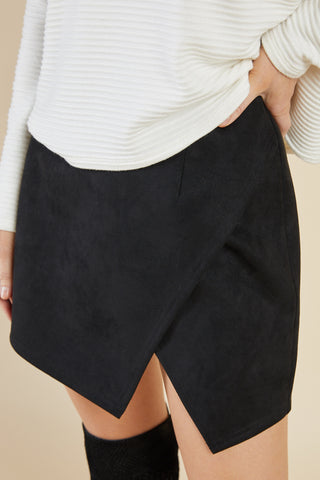 Emmy Suede Skirt, Black