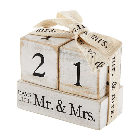Countdown to Mr. & Mrs. Block Set