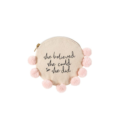 She Believed Grad Canvas Pouch