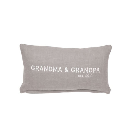 Gray Grandma And Grandpa Pillow