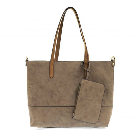 Brushed 2-in-1 Tote, Cocoa