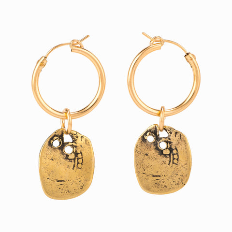 Taylor & Tessier Clover Charm Hoop Earrings