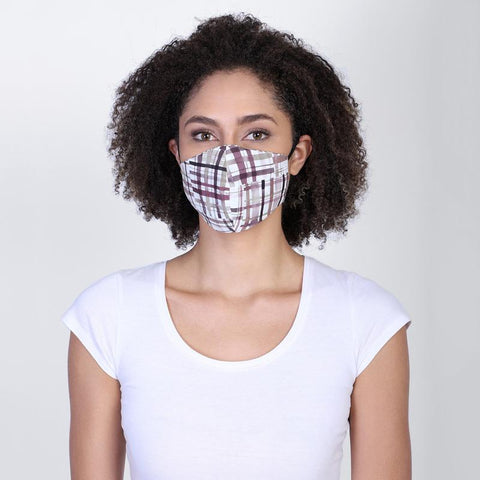 Reversible Face Mask - Monotone Checks