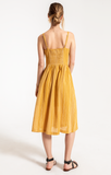 Chloe Midi Dress in Golden Rod