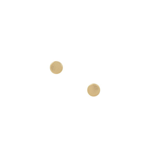 Mini Gold Circle Stud Earrings