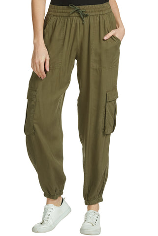 Elan Afifa Cargo Joggers In Olive