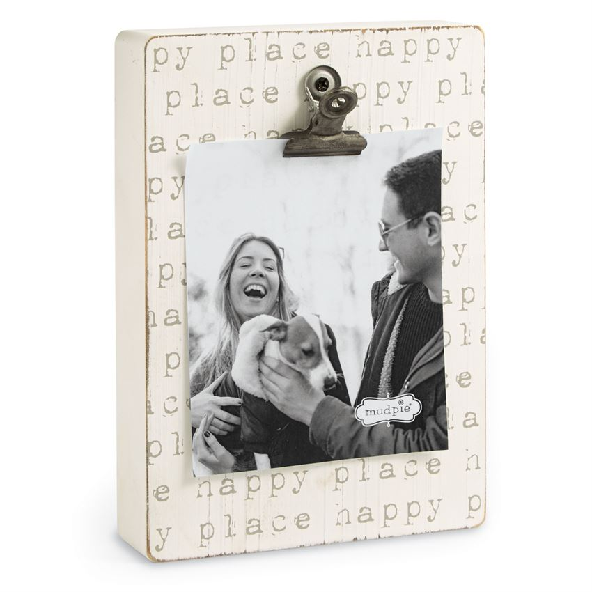 Mud Pie 'Happy Place' Wooden Frame