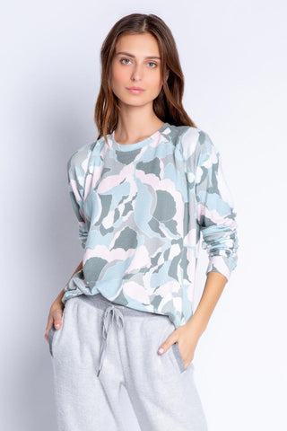 Camo Bloom Long Sleeve Top