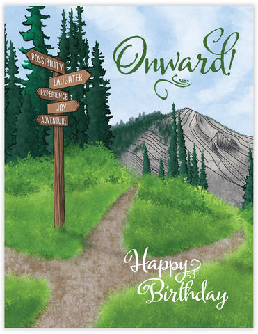 Onward Birthday Card
