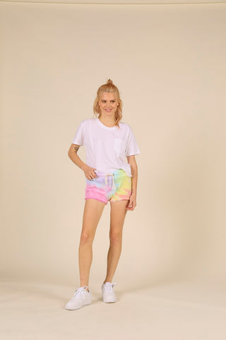 Tie-Dye Burnout Shorts