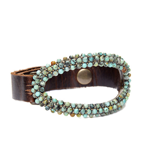 Rebel Designs Oblong Bracelet With African Turquoise