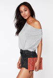 Nina Cowl Tank, Heather Gray