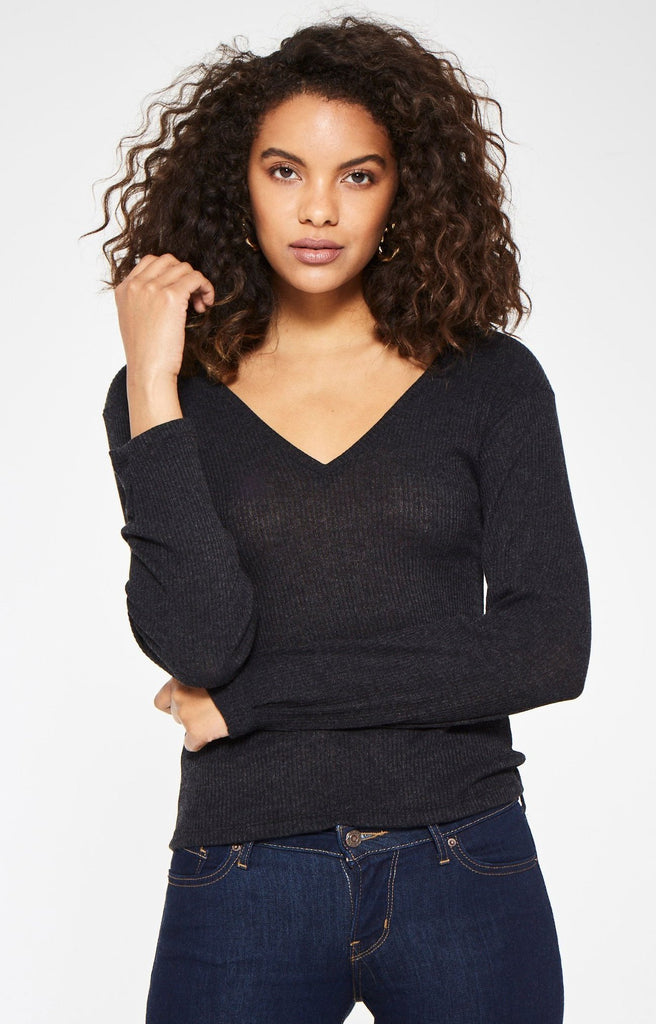 Tilbury Ribbed Long Sleeve V-Neck