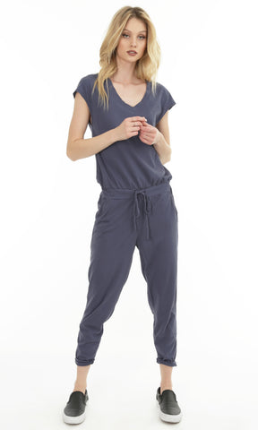 Granite Drop-Waist Jumpsuit