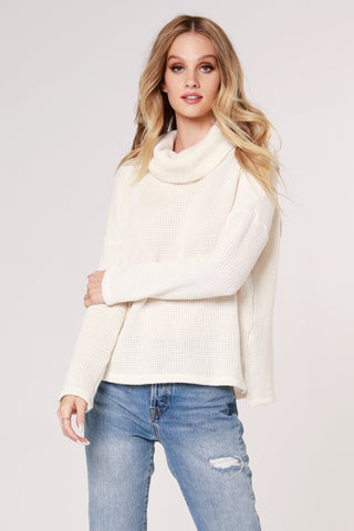 Tia Turtleneck Sweater, Ivory