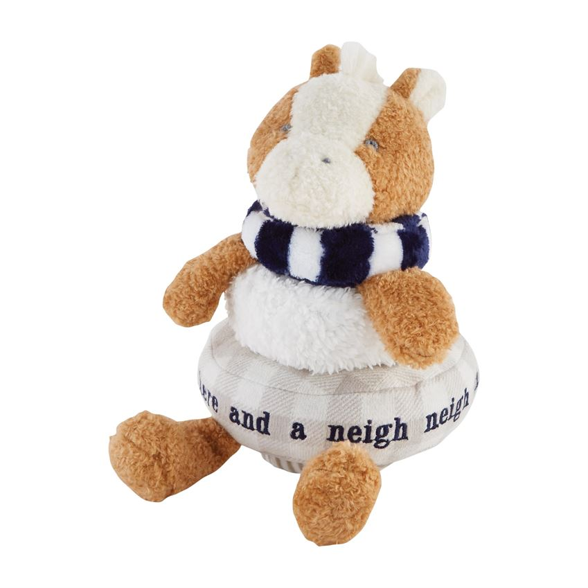 Farmhouse Stackable Plush Horse
