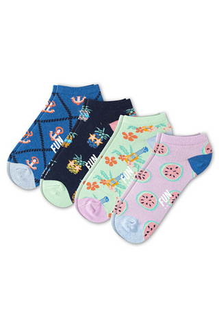 Fun Socks - Girl's Summertime Anklet Socks