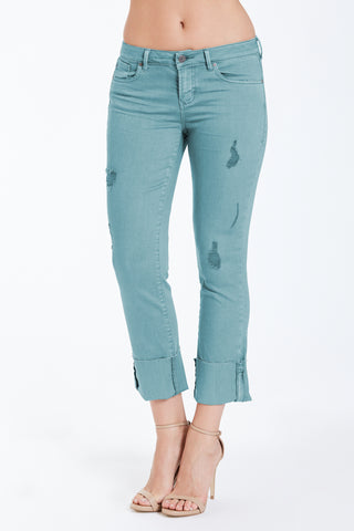 Dear John Denim Playback Cuffed Denim In Seaglass
