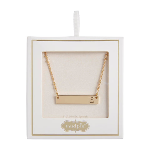Initial Bar Necklace, B