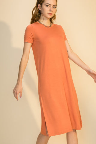 Freya T-Shirt Dress, Copper