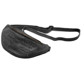 Delta Leather Hip Pack In Black