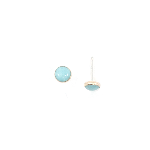 Medium Amazonite Studs, Gold