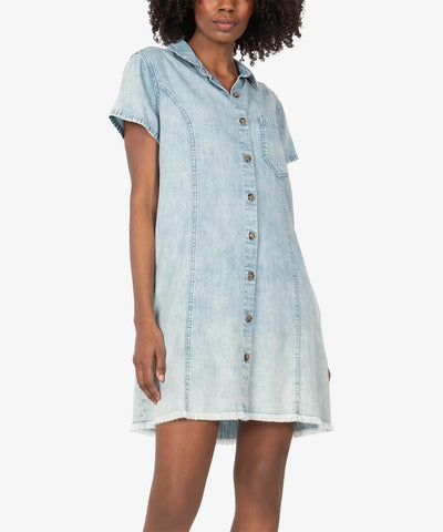 Vittoria Shirt Dress, Light Wash